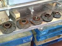 7 Máquina aplicación margarina estado sujeción piñones